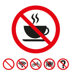 no coffee sign on white background vector image