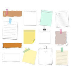 note aper set vector image
