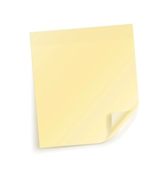 Note sticky Sheet vector image
