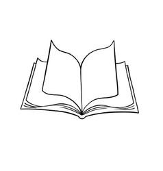 Open book 2 vector