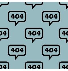 Pale blue 404 message pattern vector
