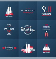 Patriot day design template collection september vector