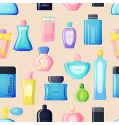Perfume bottle set vector