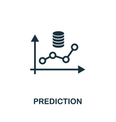 Prediction icon simple element from data vector