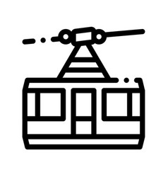 public transport aerial lift thin line icon vector image