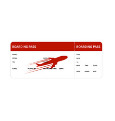 Red boarding pass vector