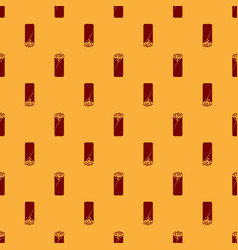 Red burrito icon isolated seamless pattern on vector