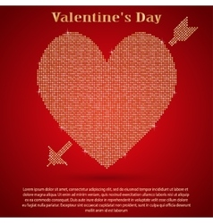 Red sequin background I love you Valentines Day vector