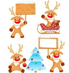 Reindeer Rudolph vector