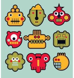 Robot Faces vector image