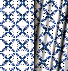 Seamless geometric floral pattern vector image