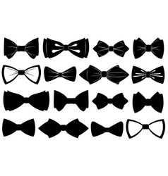 Set of different bow ties vector