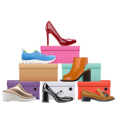 shoes store concept vector image