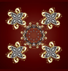 Snowflake isolated on red background snowflake vector