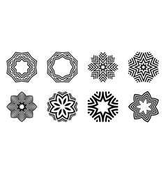 snowflakes set isolated on white background vector image