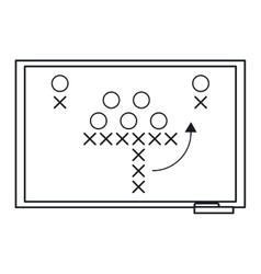 Sport tactics chalkboard american football outline vector