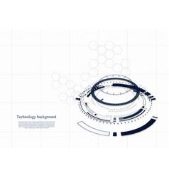 Technological future intelligent interface vector