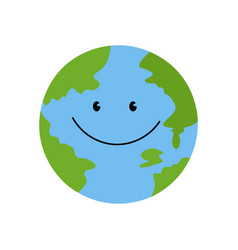 the planet is smiling vector image