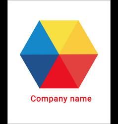 Transparent geometric logo vector