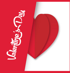 Valentine day heart on right image vector