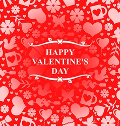 valentine day red vector image vector image