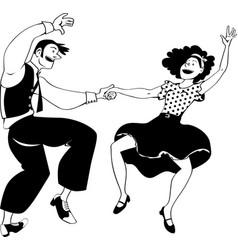 wild dance bw vector image