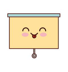 window blind kawaii character vector image