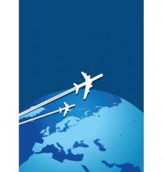 world flight vector image
