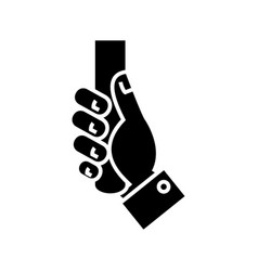 handling hand icon black vector image
