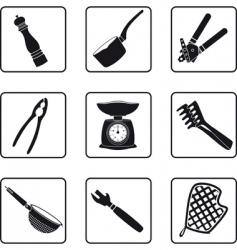 kitchen supplies vector image vector image