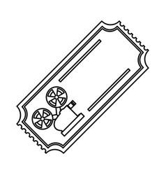 line tickets to cinema movie entertainment movie vector image vector image