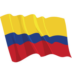 political waving flag of colombia vector image vector image