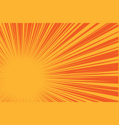 yellow sun on a red background pop art comic vector image vector image