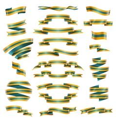Decorative ribbons set vector