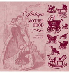 motherhood antique set vector image