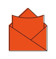 open message envelope with blank paper icon image vector image