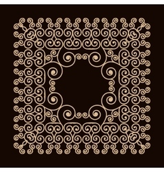 Outline frame with swirls Mono line graphic vector image