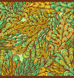 seamless floral ornate bright summer pattern vector image vector image