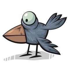 Standing crow vector