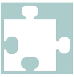 the puzzle the white color icon vector image