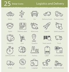 Thin line icons for shipping and delivery vector