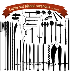 A large set bladed weapons vector image vector image