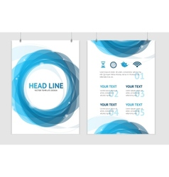 abstract geometric blue round brochure vector image vector image