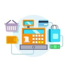 Cash register ocncept vector image vector image