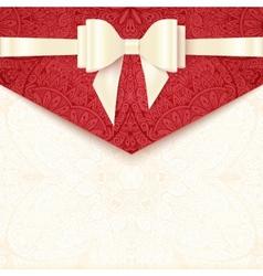 Elegant wedding card template vector image