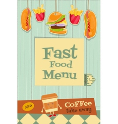 fast food brochure vector image vector image
