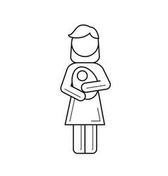 maternity line icon vector image