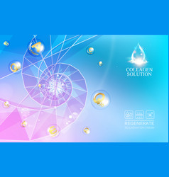 Abstract science design with polygons and vector