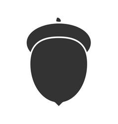 Acorn glyph icon vector