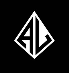 Al logo letters monogram with prisma shape design vector